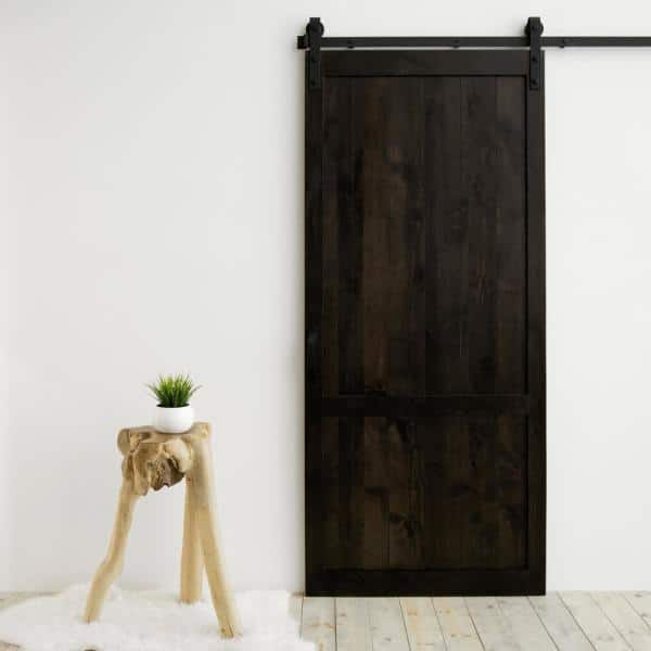 Dogberry Collections 36 In X 84 In Country Vintage White Alder Wood Interior Sliding Barn Door Slab With Hardware Kit D Coun 3684 None Whit Hard The Home Depot