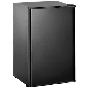 3.2 cu. ft. Compact Mini Fridge in Black with Freezer, Reversible Door and 5 Settings Temperature Adjustable