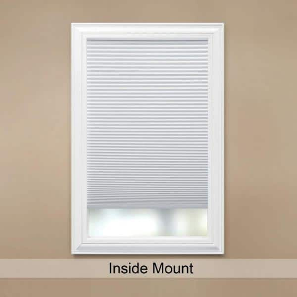 Home Decorators Collection Snow Drift Cordless Light Filtering Cellular Shade 47 In W X 64 In L 10793478931941 The Home Depot