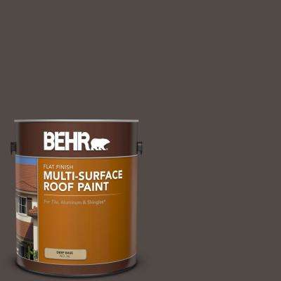1 gal. #RP-31 Chaparral Brown Flat Multi-Surface Exterior Roof Paint