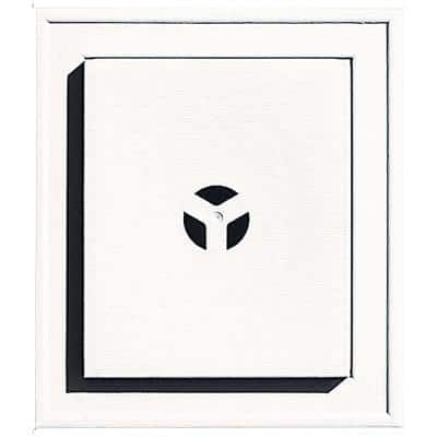 7 in. x 8 in. # 117 Bright White Square Universal Mounting Block