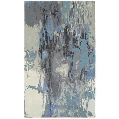 Gillespie Blue/Grey 4 ft. x 6 ft. Casual Area Rug