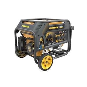 Hybrid Series 4550-Watt/3650-Watt Recoil Start Dual Fuel Gas and Propane Powered Portable Generator with 208cc Engine