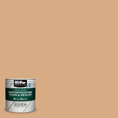 8 oz. #SC-127 Beach Beige Solid Color Waterproofing Exterior Wood Stain and Sealer Sample