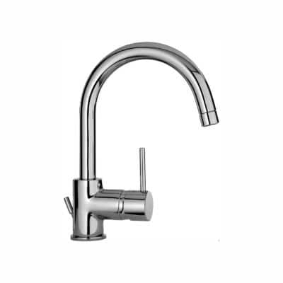 Elba Single Hole 1-Handle Low-Arc Bathroom Faucet in Chrome
