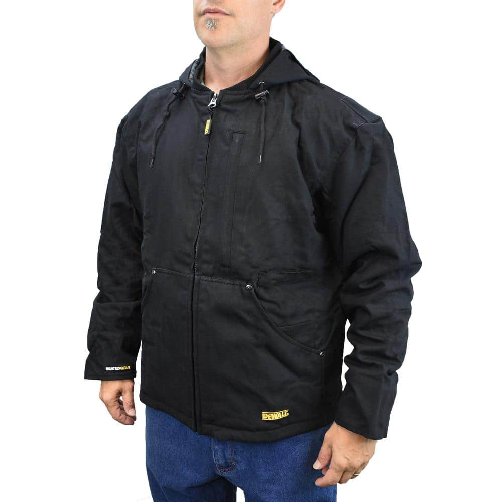 Dewalt Men S Xlarge 20 Volt Max Xr Lithium Ion Black Heated Heavy Duty Jacket Kit With 20ah Battery And Charger Dchj076abd1 Xl The Home Depot