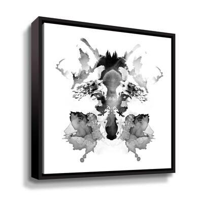 'Rorscach' by  Robert Farkas Framed Canvas Wall Art