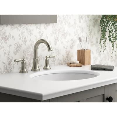 Capilano 8 in. Widespread 2-Handle Bathroom Faucet in Vibrant Brushed Nickel