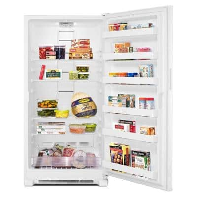 19.7 cu. ft. Frost Free Upright Freezer in White
