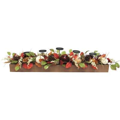 42 in. Fall Harvest Candle Holder Centerpiece