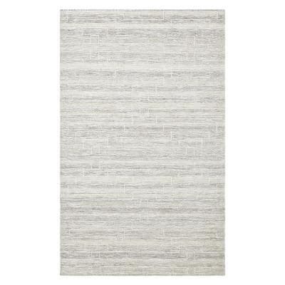 Barry Contemporary Flatweave Beige 8 ft. x 10 ft. Hand Woven Area Rug