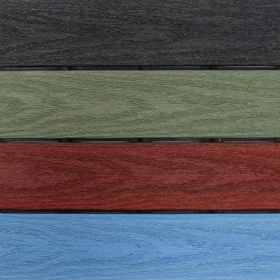 UltraShield Natural 1 ft. x 1 ft. Composite Quick Deck Outdoor Deck Tile in Mixed Rainbow (10 sq. ft. per Box)