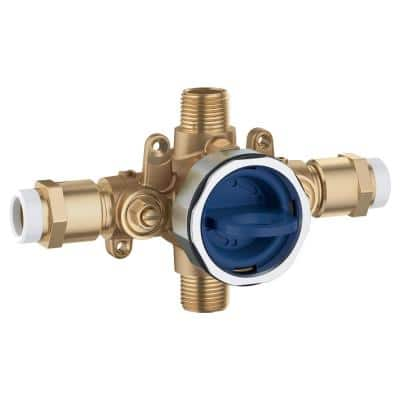 GrohSafe 3.0 Pressure Balance Valve Rough with Flush Plug with CPVC Outlets with Service Stops