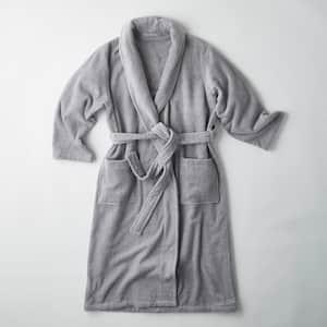 Men's XL Silver Turkish Cotton Long Robe