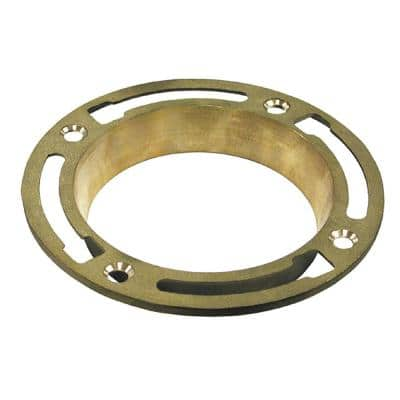 6-11/16 in. O.D, Deep Seal 1-1/8 in. Brass Water Closet (Toilet) Flange