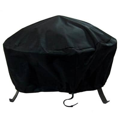 36 in. Black Durable Weather-Resistant Round Fire Pit Cover