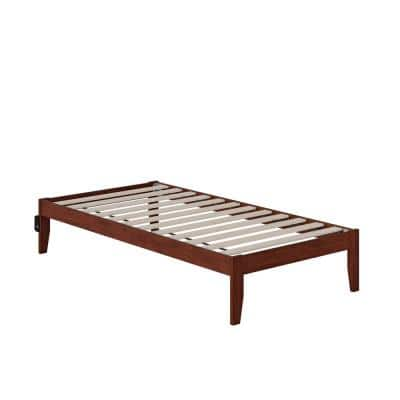 Colorado Walnut Twin Bed with USB Turbo Charger