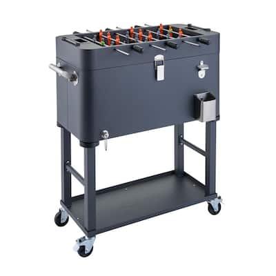 80 qt Detachable Tub Foosball Cooler w/ Cover Gray