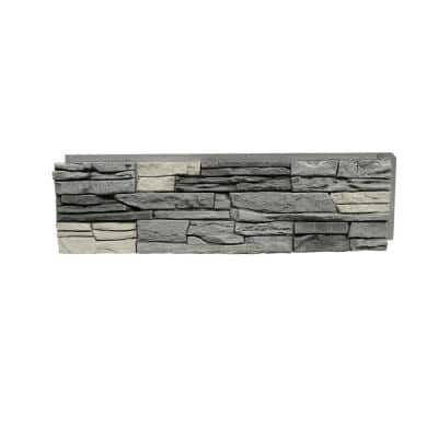 42 in. x 12 in. Stacked Stone Northern Slate Faux Stone Siding Panel