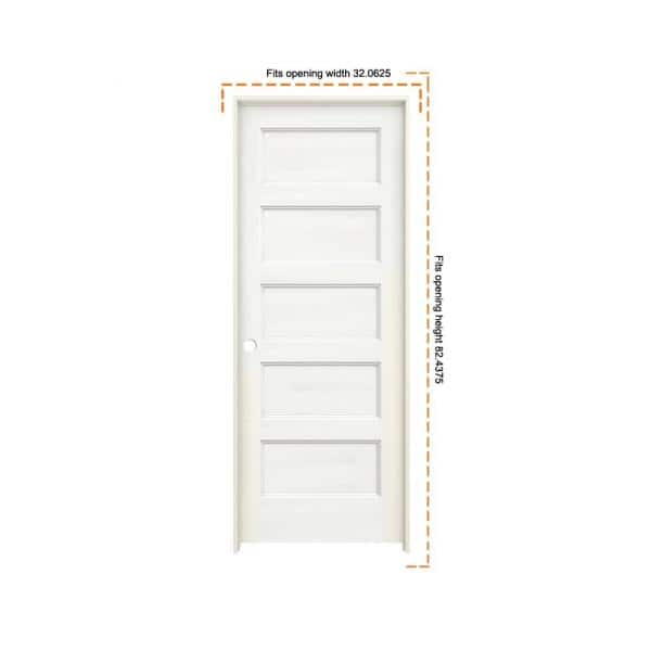 Jeld Wen 30 In X 80 In Conmore White Paint Smooth Solid Core Molded Composite Single Prehung Interior Door Thdjw236700015 The Home Depot