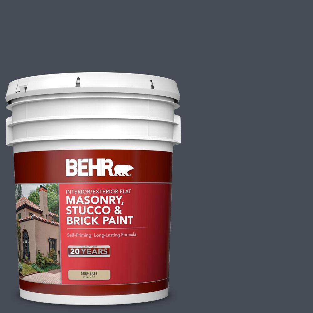 5 gal. #PPU15-20 Poppy Seed Flat Interior/Exterior Masonry, Stucco and Brick Paint