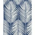 Palm Silhouette Coastal Blue 20.5 in. x 18 ft. Peel and Stick Wallpaper