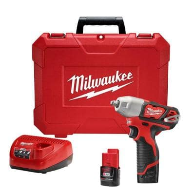 M12 12-Volt Lithium-Ion Cordless 1/4 in. Impact Wrench Kit W/ (2) 1.5Ah Batteries, Charger & Hard Case