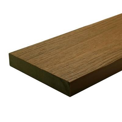 UltraShield Naturale Cortes 1 in. x 6 in. x 4 ft. Peruvian Teak Solid Composite Decking Board