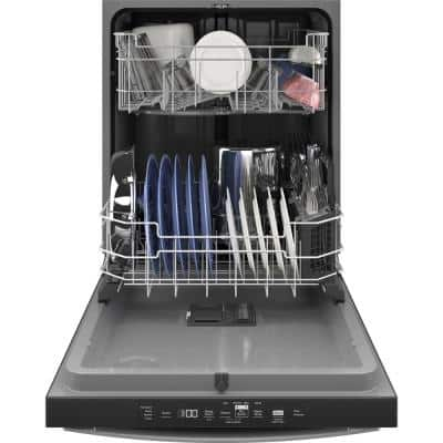 24 in. Fingerprint Resistant Stainless Steel Top Control Built-In Tall Tub Dishwasher with Steam Clean