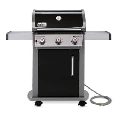 Spirit E-310 3-Burner Natural Gas Grill in Black with Built-In Thermometer