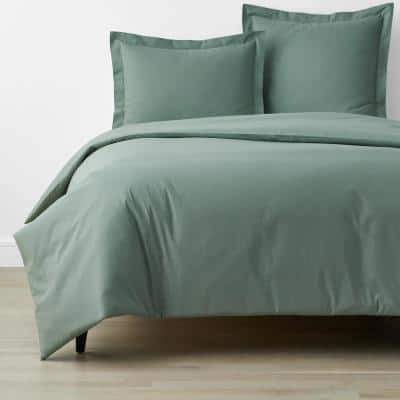 Company Organic Cotton Thyme Twin Cotton Percale Duvet Cover