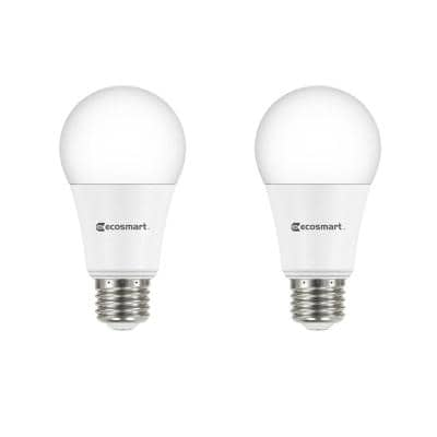 75-Watt Equivalent A19 Dimmable LED Light Bulb Soft White (2-Pack)