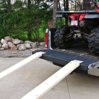 8 in. Aluminum Truck Loading Ramp Plate Kit (Includes 2 Ramp Plates)