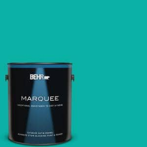 1 gal. #490B-5 Cozumel Satin Enamel Exterior Paint & Primer