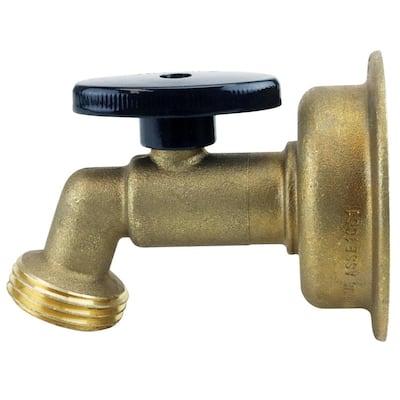 1/2 in. Brass Quarter Turn Push-to-Connect x 3/4 in. Garden Hose Thread No Kink Hose Bibb