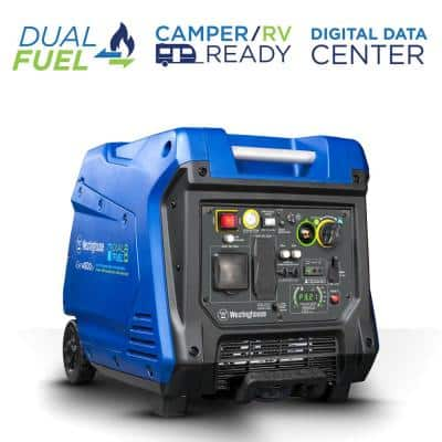 iGen4500DF 4500/3700 Watt Dual Fuel Portable Inverter Generator with LED Display Electric/Remote Start and RV-Ready