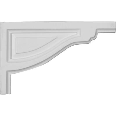 1/2 in. x 8 in. x 5 in. Polyurethane Right Small Traditional Stair Bracket Moulding