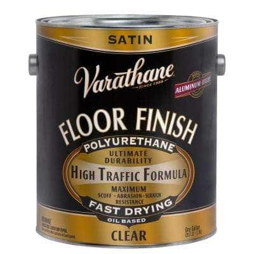 1 gal. Clear Satin Oil-Based Floor Finish Polyurethane