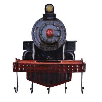 Multi color Rustic Rail Engine Iron Wall Hooks
