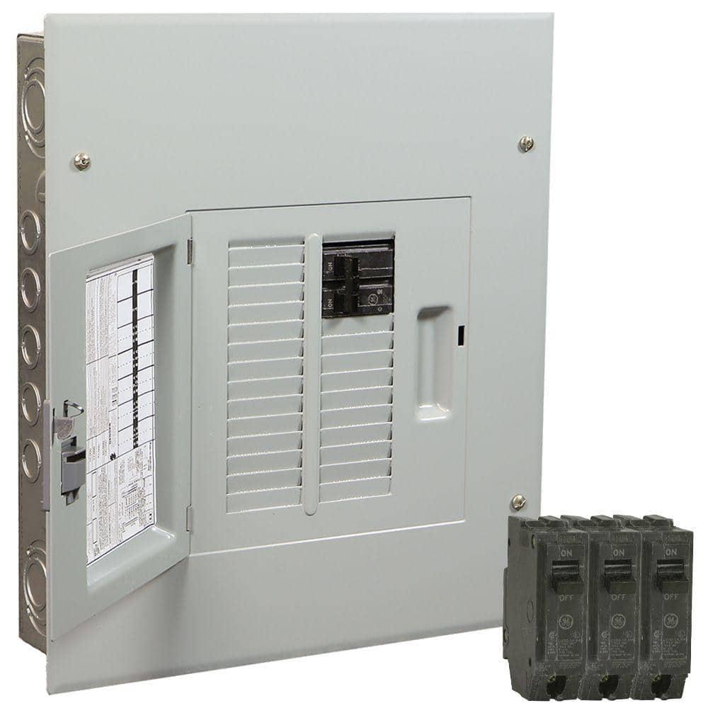 GE PowerMark Gold 100 Amp 12-Space 22-Circuit Indoor Main Breaker Value Kit  Includes Select Circuit Breaker-TM1210CCUG2K - The Home Depot   Ge Load Center Wiring Diagram      The Home Depot