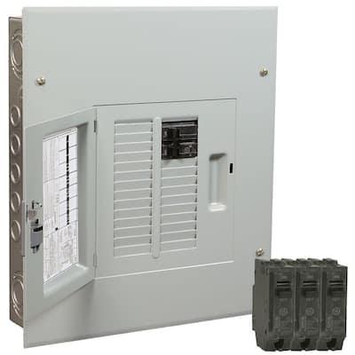 PowerMark Gold 100 Amp 12-Space 22-Circuit Indoor Main Breaker Value Kit Includes Select Circuit Breaker