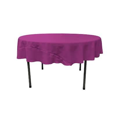 72 in. Round Magenta Polyester Poplin Tablecloth