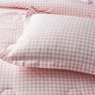 Company Kids™ Gingham Turquoise Organic Cotton Percale Comforter Set