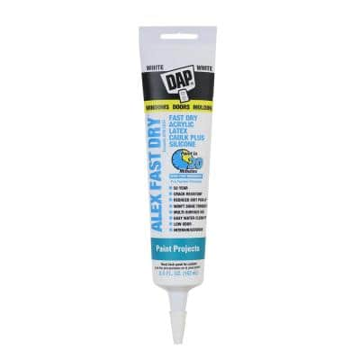Alex Fast Dry 5.5 oz. White Acrylic Latex Plus Silicone Caulk