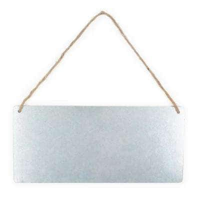 Project Craft Hanging Blank Galvanized Metal Sign for Craft Painting, 11 in. x 5 in.