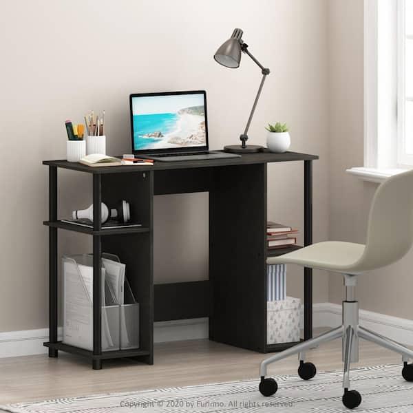 Furinno 39 In Rectangular Espresso, Espresso Office Desk