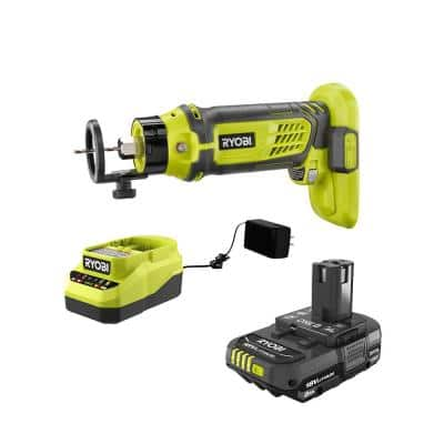 ONE+ 18V Cordless SPEED SAW Rotary Cutter with 2.0 Ah Battery and Charger