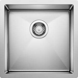Precision Undermount Stainless Steel 17 in. Single Bowl Kitchen Sink in Satin Polished