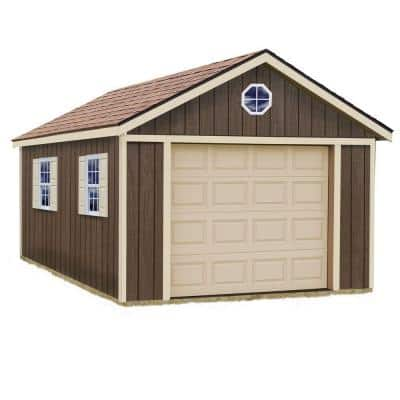 Sierra 12 ft. x 16 ft. Wood Garage Kit without Floor