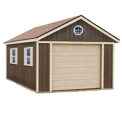 Sierra 12 ft. x 20 ft. Wood Garage Kit without Floor